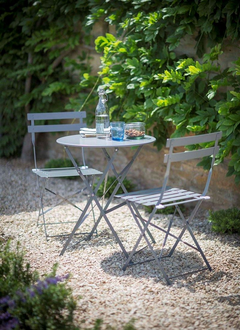 Bistro Set Table and 2 Chair Shutter Blue Sherrees Garden