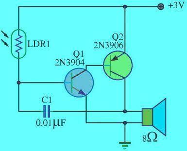 Simple Light Sensitivity Metronome Using #Transistors | ELEKTRONİK ...
