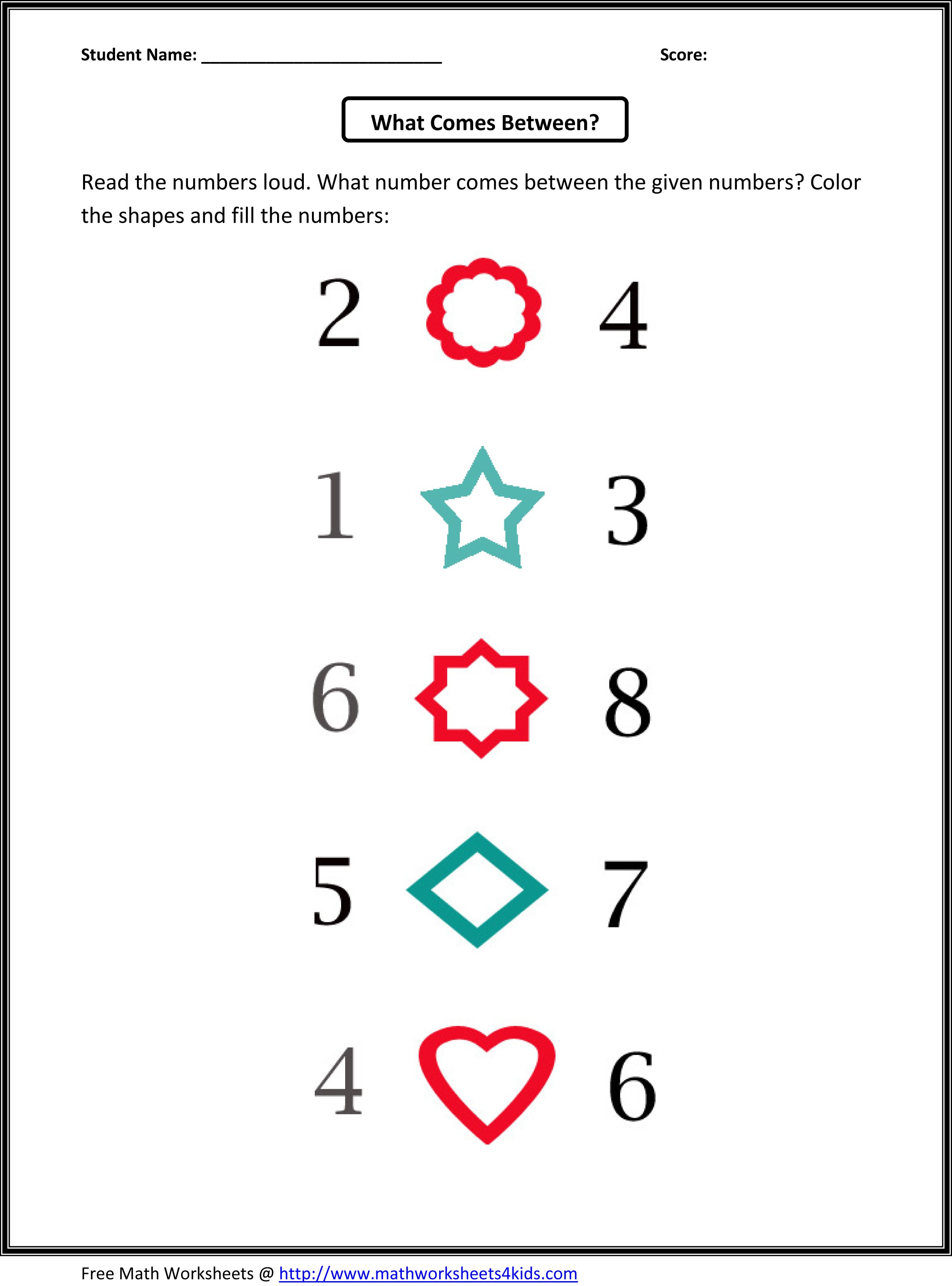 Kindergarten Counting Worksheets 110 – Pattern Maths Worksheets