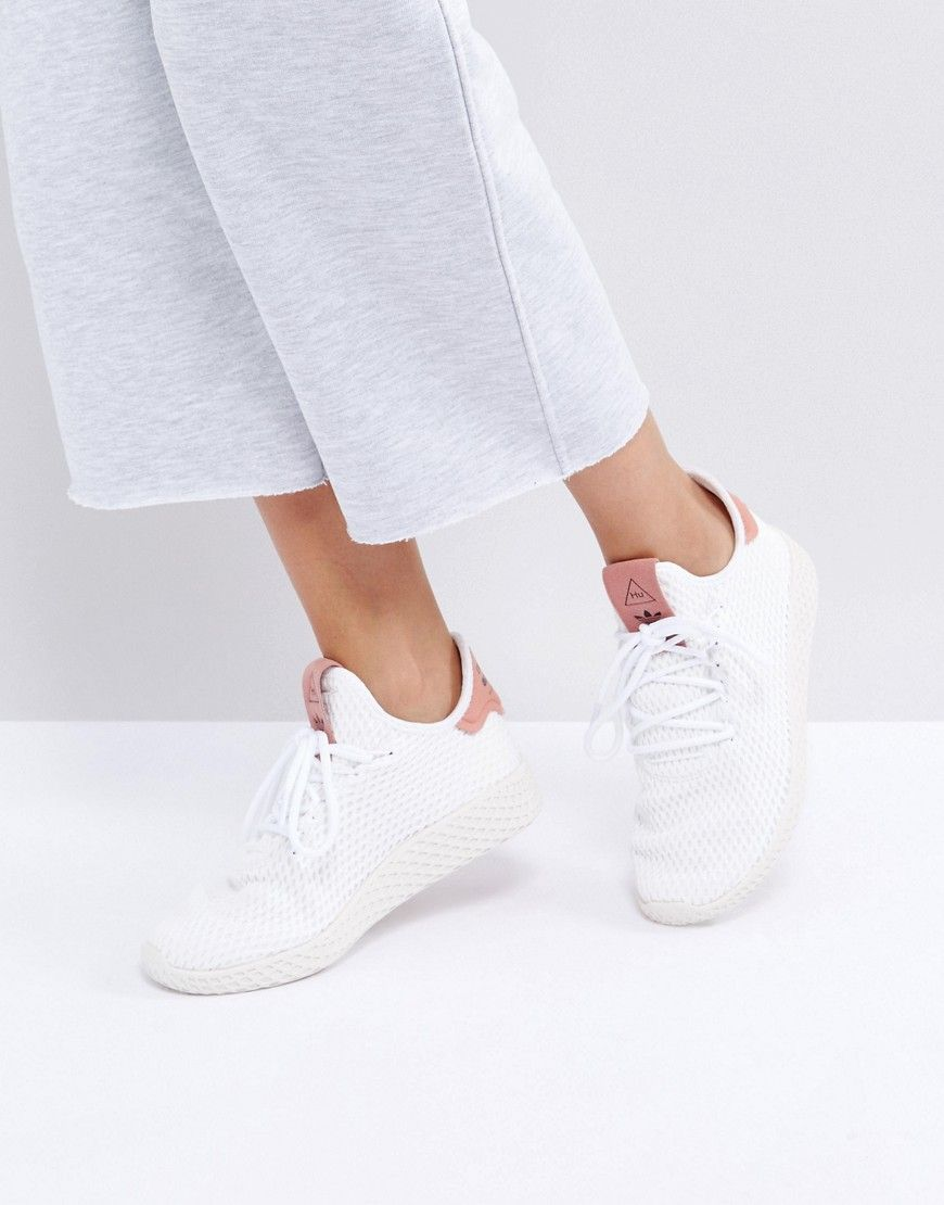 f679fd218 ADIDAS ORIGINALS ADIDAS ORIGINALS X PHARRELL WILLIAMS TENNIS HU SNEAKERS IN  WHITE AND PINK - WHITE.  adidasoriginals  shoes
