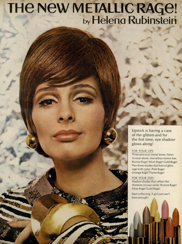 Helena Rubenstein The New Metallic Rage Collection 1967