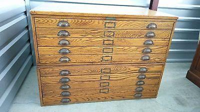Antique oak file cabinet collectors drafting blueprint prints antique oak file cabinet collectors drafting blueprint painting malvernweather Images