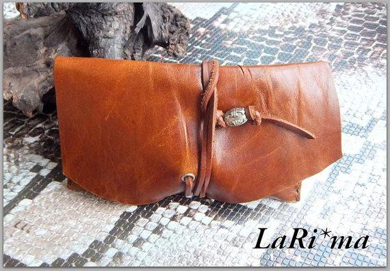 Leather Handmade  Tobacco case / Short size / Light by LaRima, $26.00
