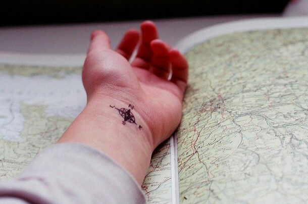 I want a map tattoo but compasses are cool too:)