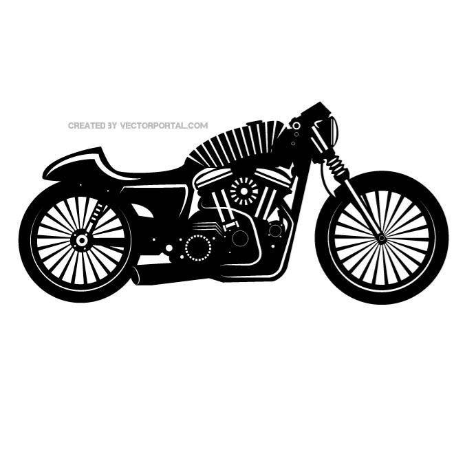 Motorcycle Vector Silhouette Dengan Gambar Gambar