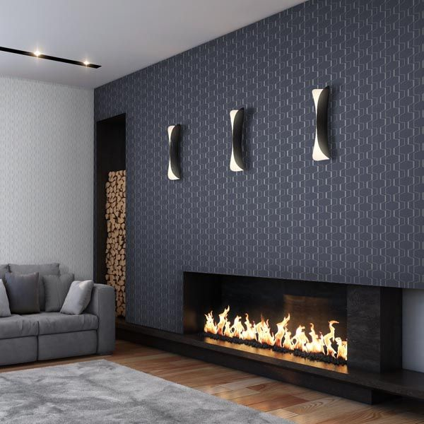 This Sleek And Contemporary Fireplace Is Perfectly Complemented