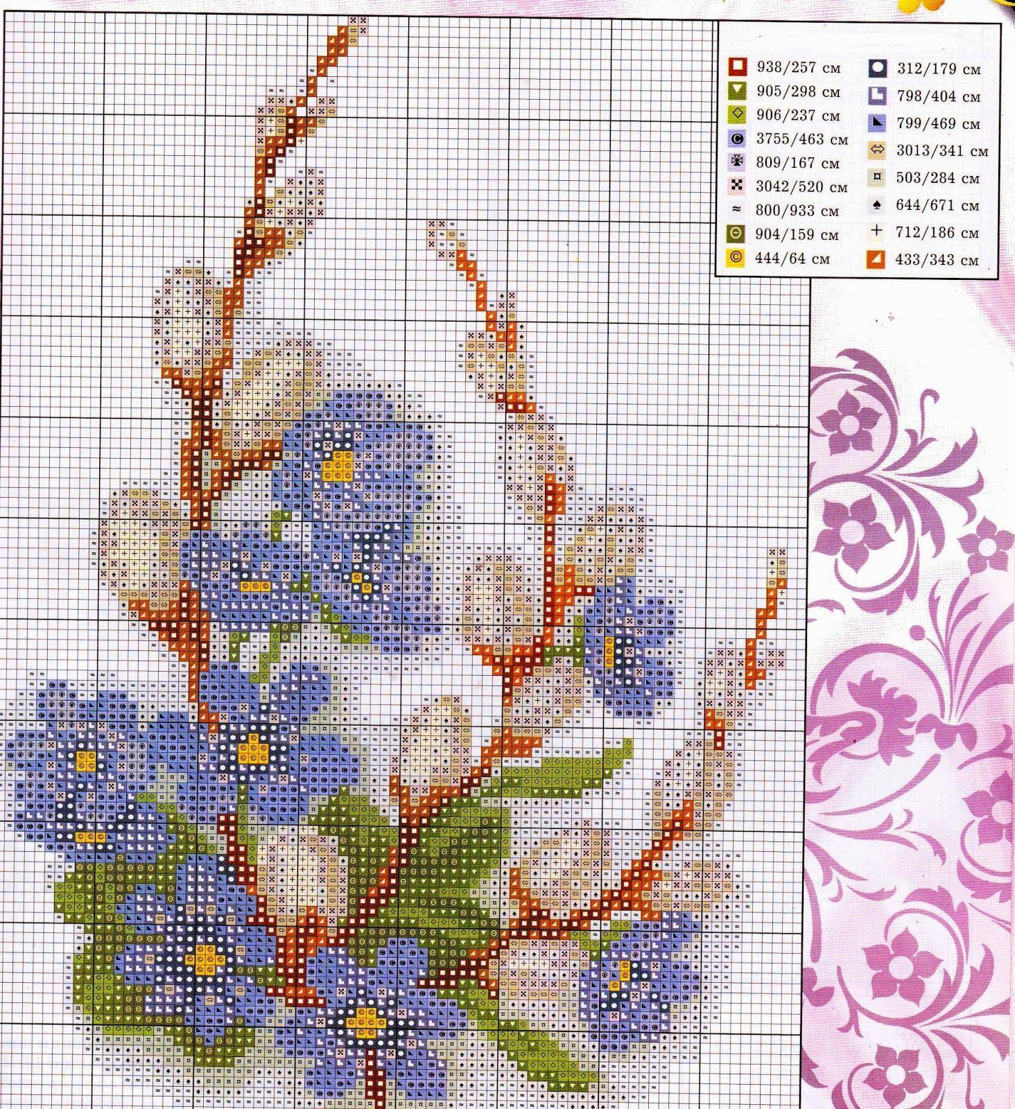 Ricamo e schemi a puntocroce gratuiti schemi a punto for Schemi punto croce fiori e farfalle