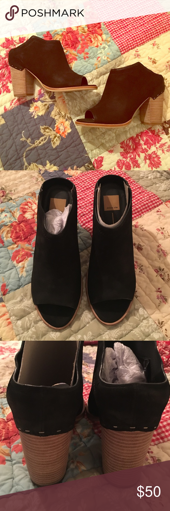 Dolce Vita black suede mules size 10 women's Brand new without box Dolce Vita open toed mules women's size 10 Dolce Vita Shoes Mules & Clogs