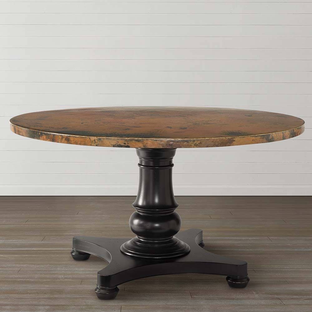 Round Copper Top Dining Table Dining Table Copper Round Copper Dining Table Kitchen Table Copper
