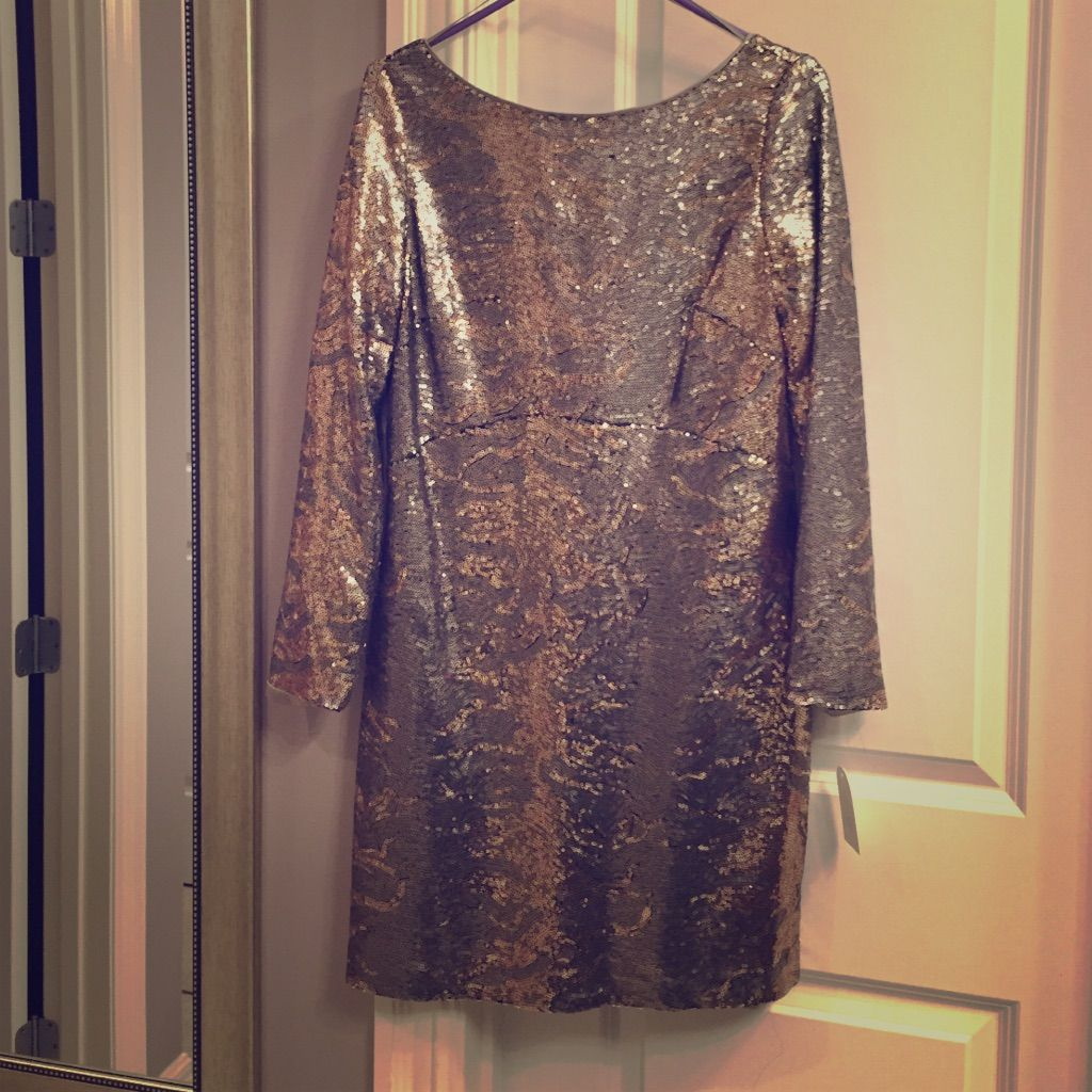 Long sleeved sequins mini dress gold and silver sequin mini dress