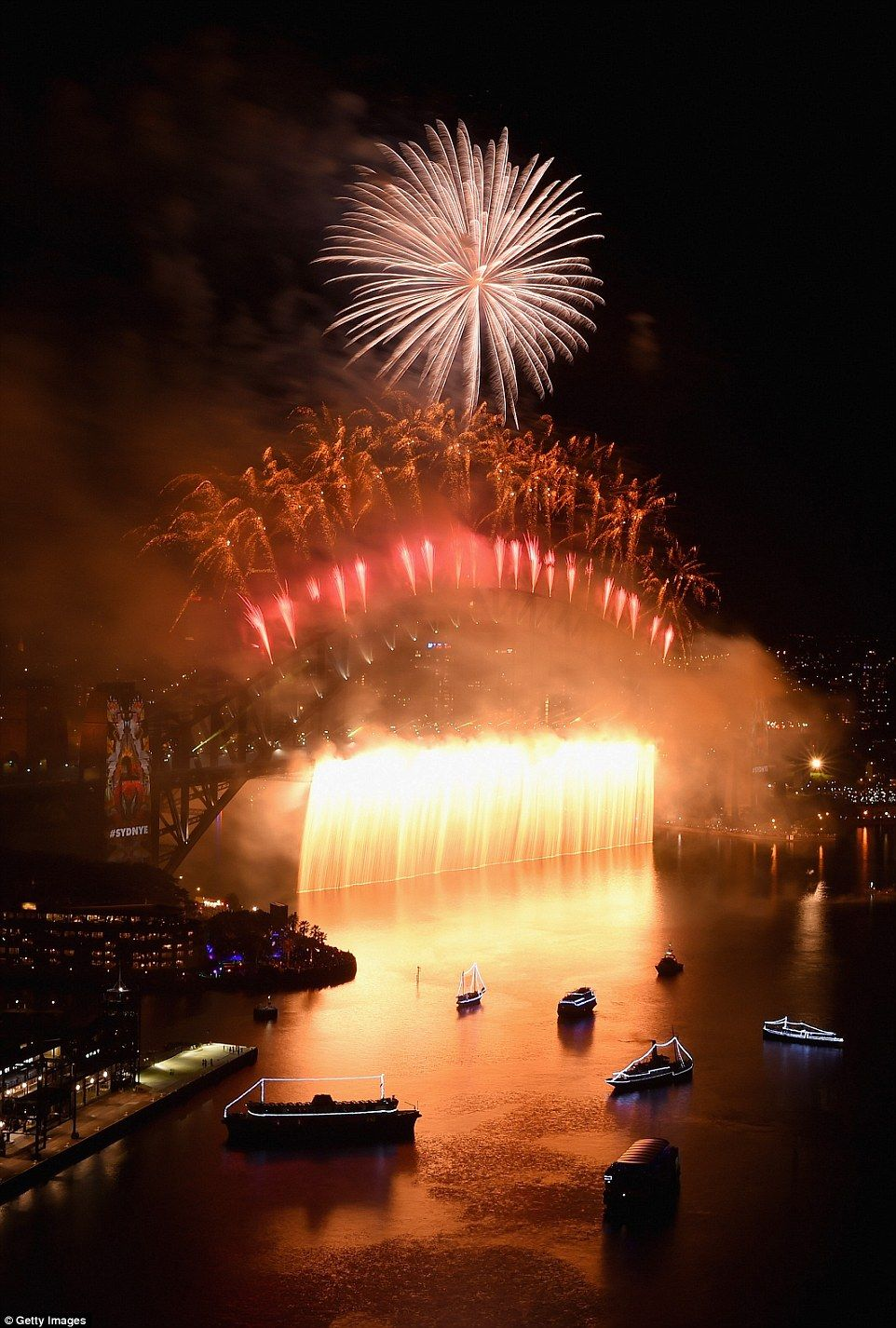 London's New Year's fireworks display rivals Sydney's