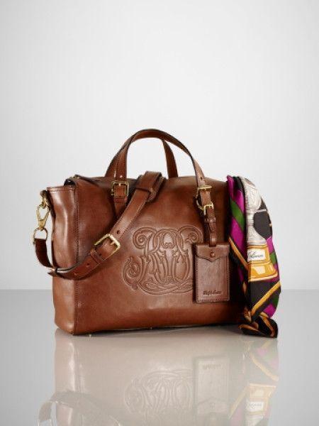 3ffc02e1cf90 Women s Brown Embossed Rl Crossbody Bag