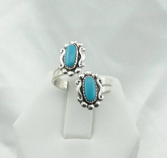 Hallmarked Bell Trading Post Blue Turquoise Sterling Silver