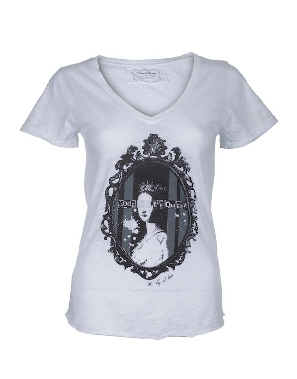 """Queen Eugénie"" By El bOs T-shirt Lily 100% coton flammé"
