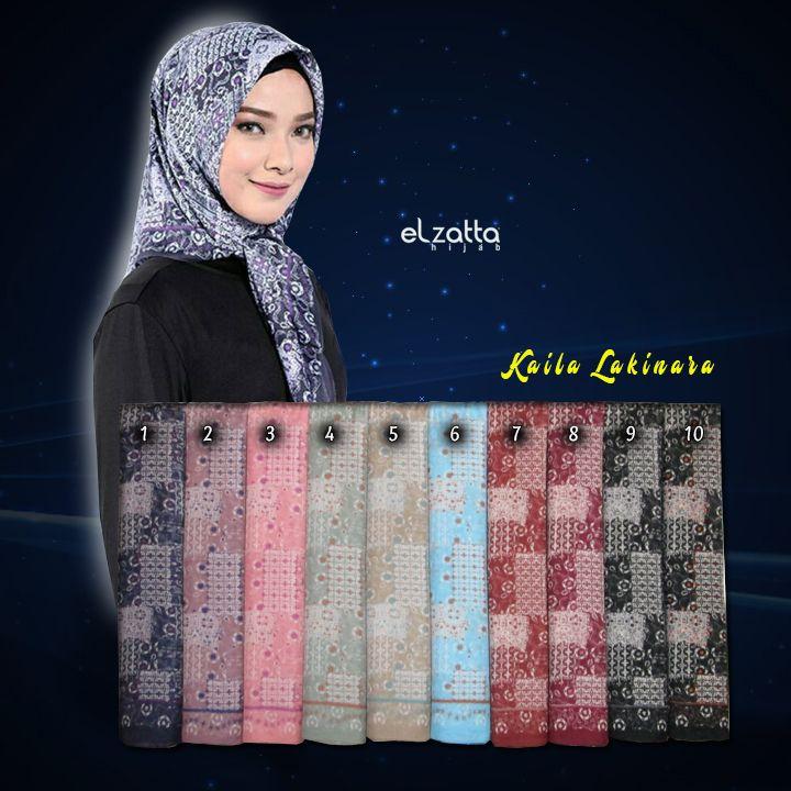 Jilbab Segi Empat Motif Batik Terbaru Elzatta Kaila Lakinara