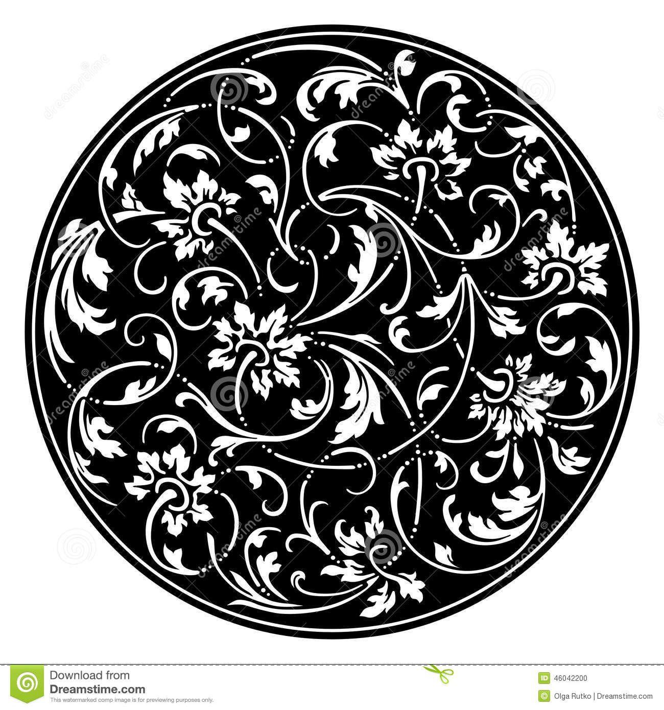 Illustration about Vector illustration of Black round