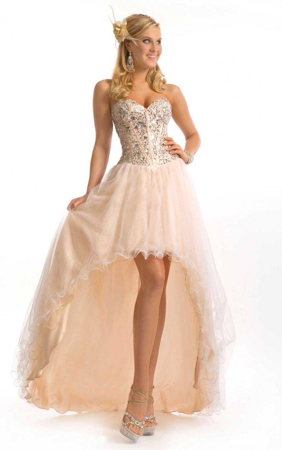 A-Linie Asymmetrisches Herzförmiger Ausschnitt Elfenbein Kleid ...
