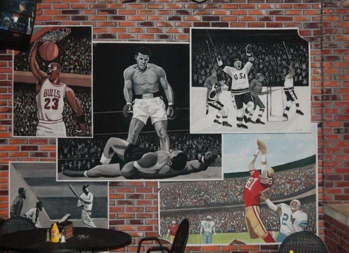 Sports Outdoor Wall Mural Decor Jpg 700 508 Mural Wall Murals Mural Art