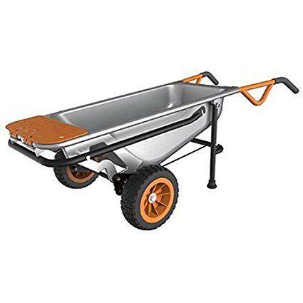 Worx Aerocart Multifunction 2 Wheeled Yard Cart Dolly And