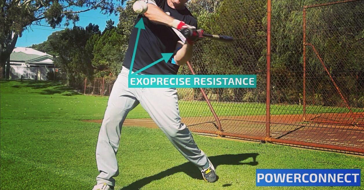 Powerconnect Baseball Hitting Aid Stay Connected Hands Inside Ball Trainer Swing Trainer Baseball Hitting Baseball