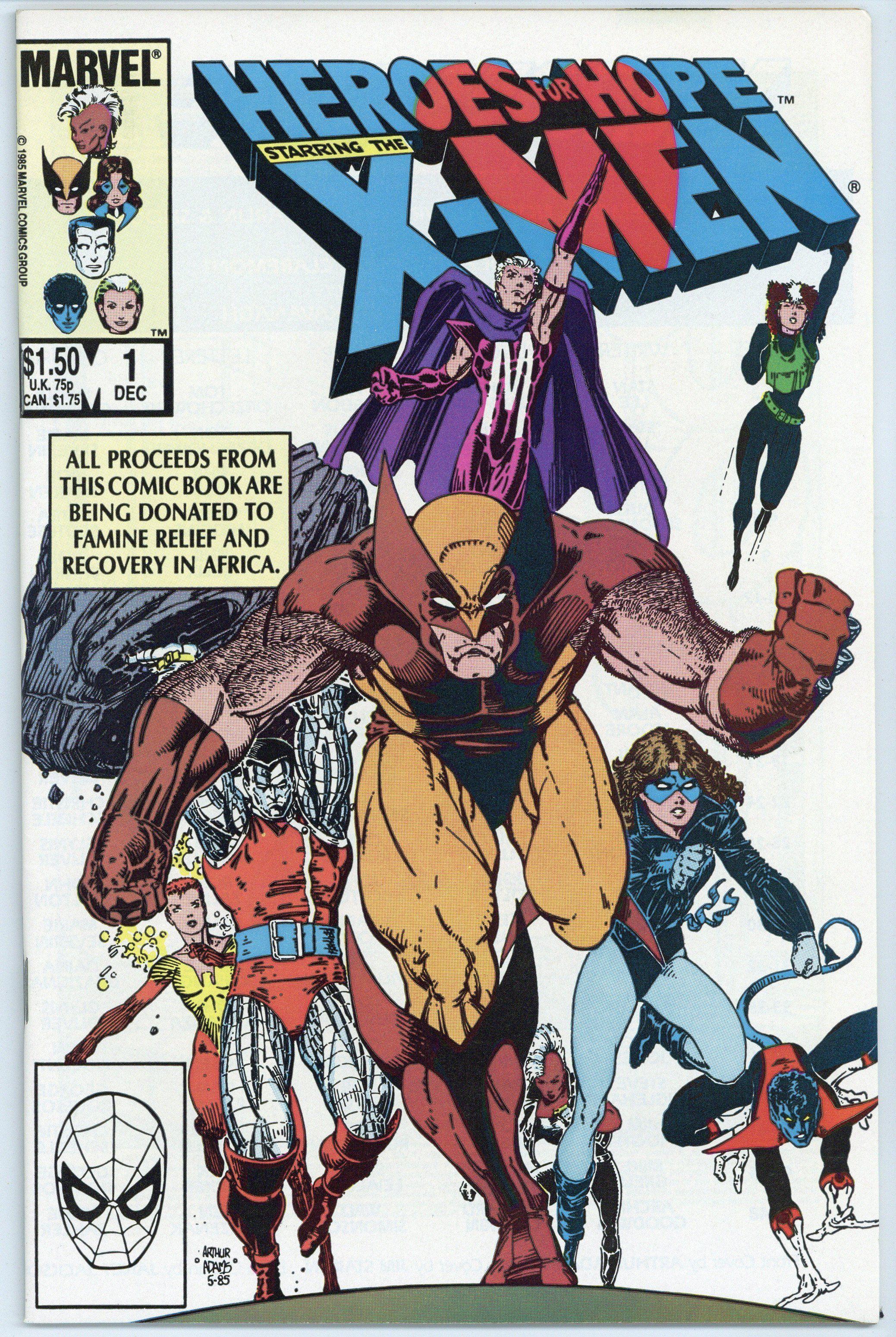 Heroes For Hope X Men 1 Vf Nm Comic Book Artists X Men Comics