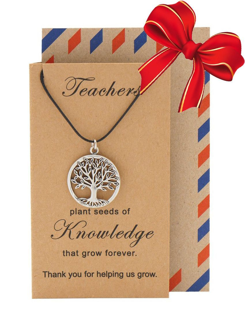 Mia Tree of Life Necklace with Thank You Cards, Teacher