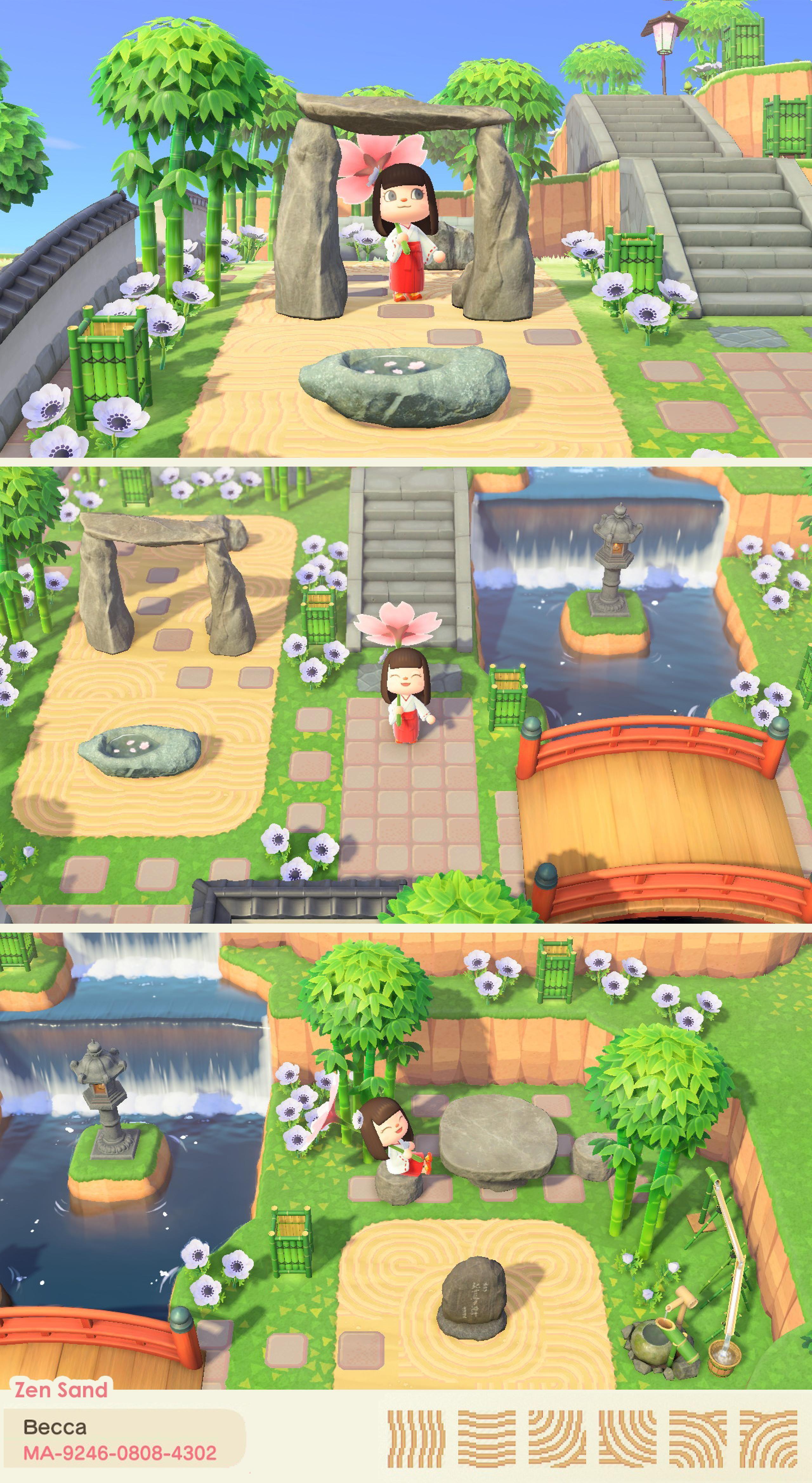 Animal Crossing New Horizons Japanese Garden Ideas