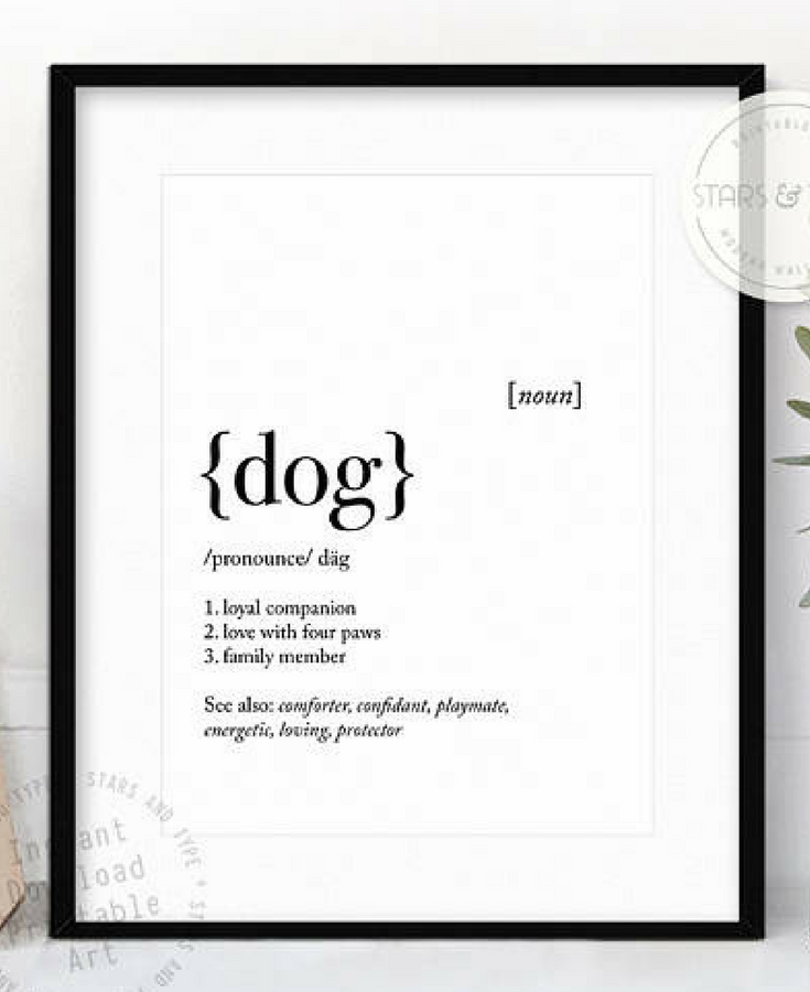 Definition Of Quote: Printable Dog Definition, Dog Dictionary Meaning, Dog