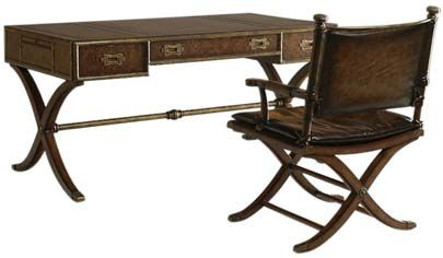 Thomasville S Ernest Hemingway Collection With A Leather Top Correspondent Desk And Chair Similar