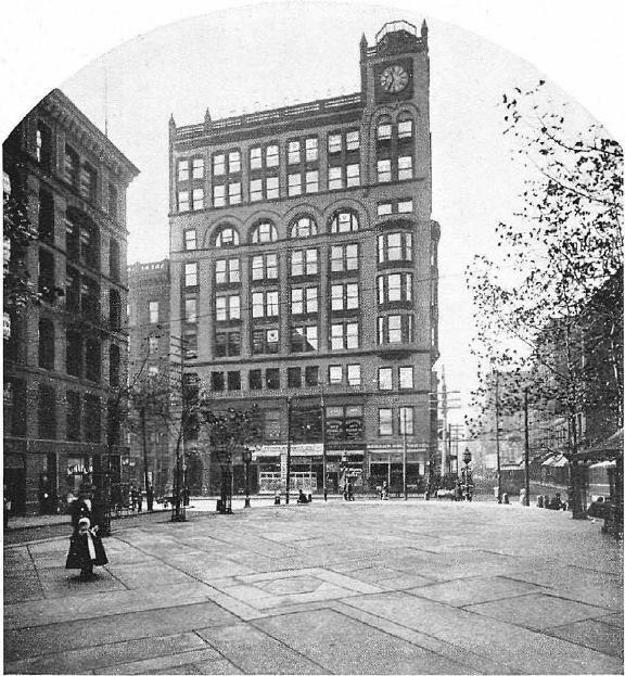 Fountain Square Esplanade And Carew Building 1901 Cincinnati Ohio Downtown Cincinnati Cincinnati