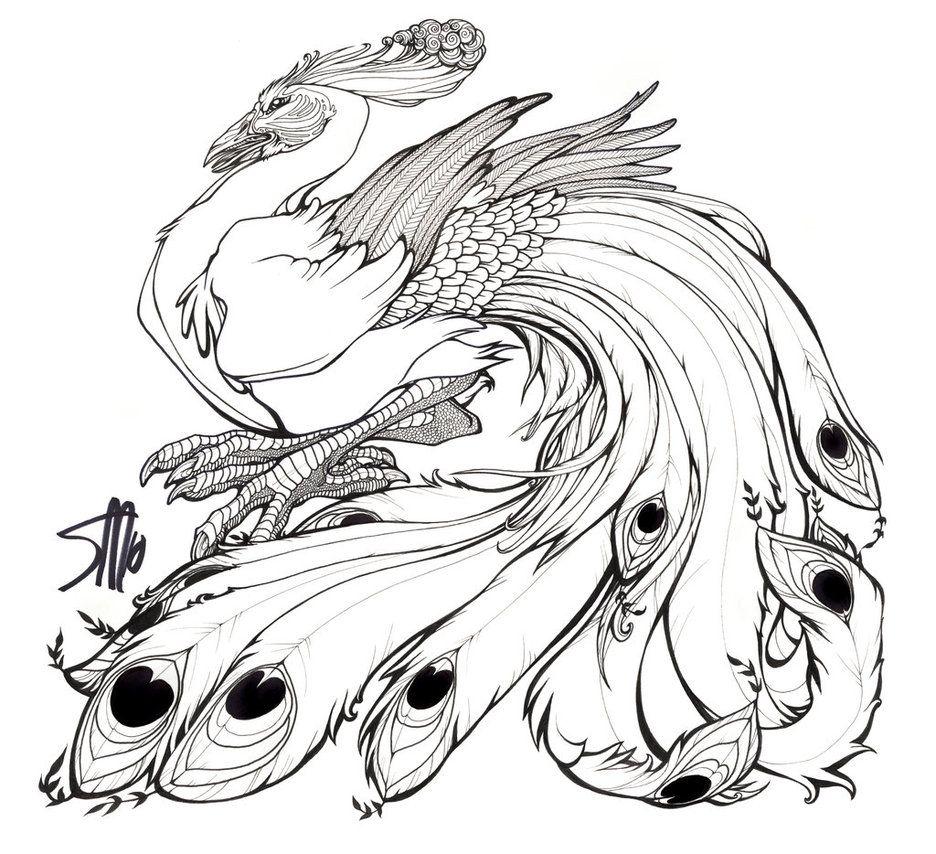 Dibujos del Pavo Real para colorear y pintar. Imprimir