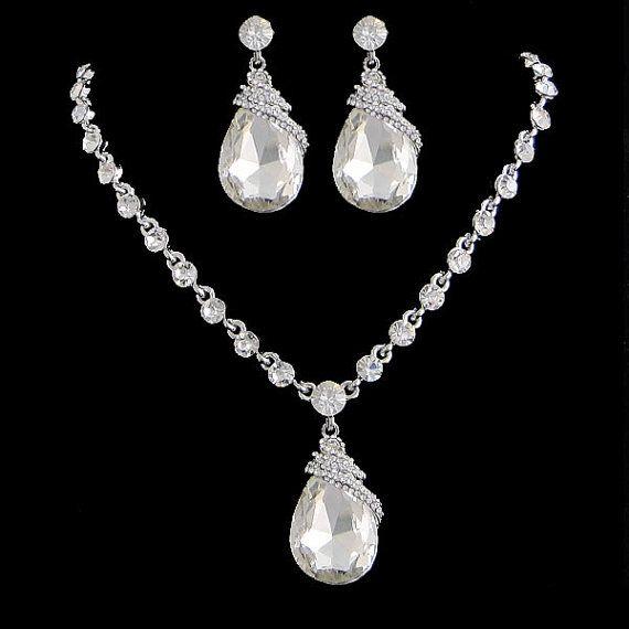 Swarovski KristallSchmuckSet Strass Anhänger Halskette von Annamall, $32.99