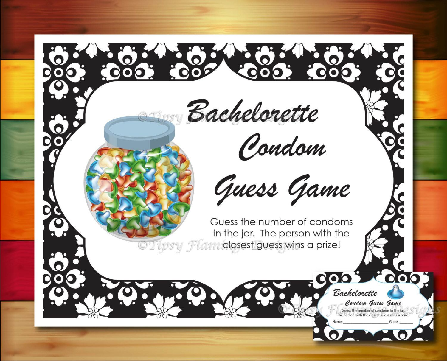 Bachelorette Party Game, Naughty Game, Condom Guess Game ...
