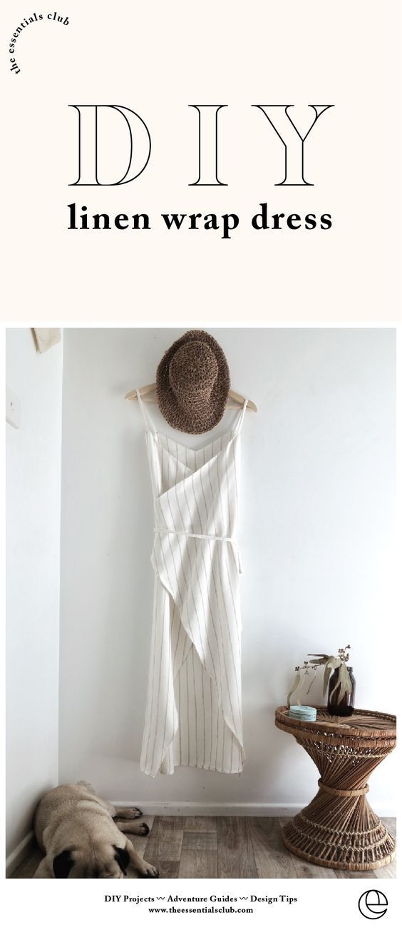 DIY: Summer Essential Wrap Dress Collab — The Essentials Club // Creative DIY Hub