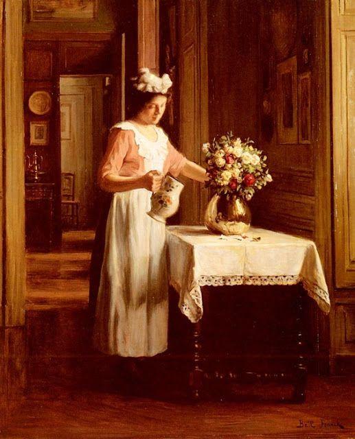 Bail Franck Antoine, una dama Flores de riego