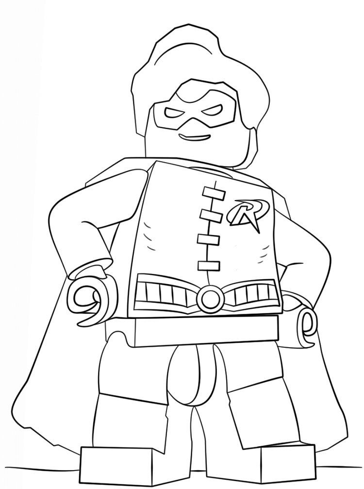 Lego Robin Coloring Pages Download Or Print The Image Below See