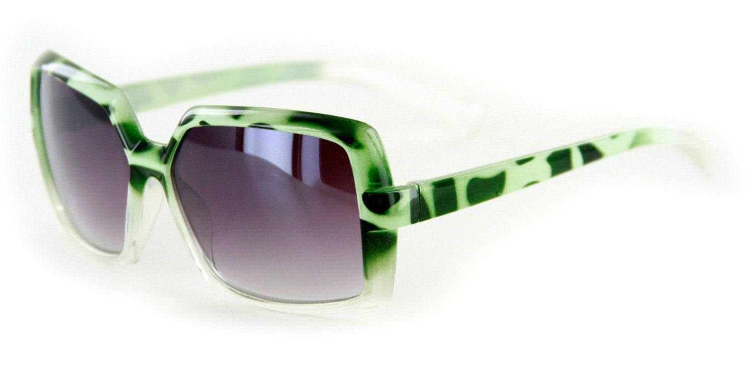 "Aloha Eyewear Girl's ""Wild Child"" Square 50mm Sunglasses 100% UV Protection (Green w/ Smoke Lens). Little Girls Animal Print Sunglasses are Made for Style and Comfort. Distortion Free Quality Lenses in Four Different Colors Frames. 100% UV Protection from the Harmful Rays of the Sun. Fits Most Girls. Actual Dimensions: Lens height 1.5 inches, 4.75 inches across Temples. Weight: 0.7 oz."