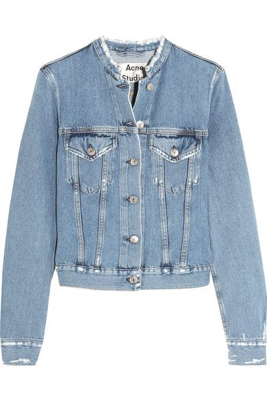 e38720674b ACNE STUDIOS Distressed denim jacket.  acnestudios  cloth  jackets ...