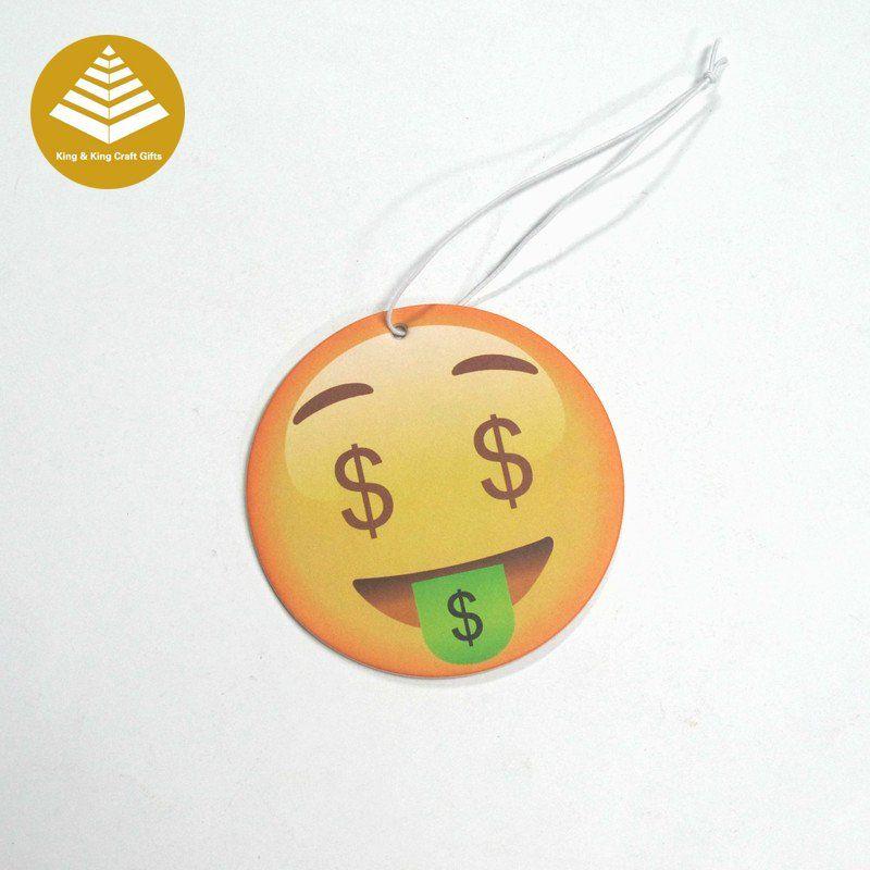 Love money emoji hanging car home hotel paper air freshener. Contact : Skype: kkinggifts4@163.com Email:kkinggifts4@163.com