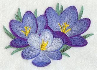 Crocus handdoek - Blue Flower handdoek - geborduurde handdoek - meel Sack handdoek - Hand handdoek - badhanddoek - vingertop handdoek - schort #dishtowels