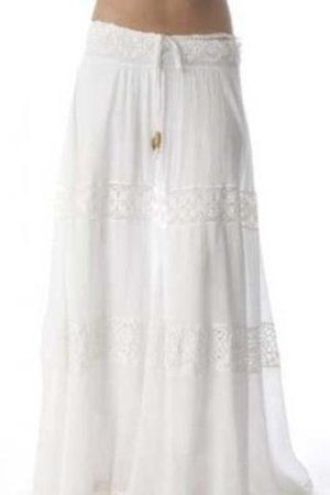 long white skirt | Mijo Long Hippie Skirt in White Profile Photo ...