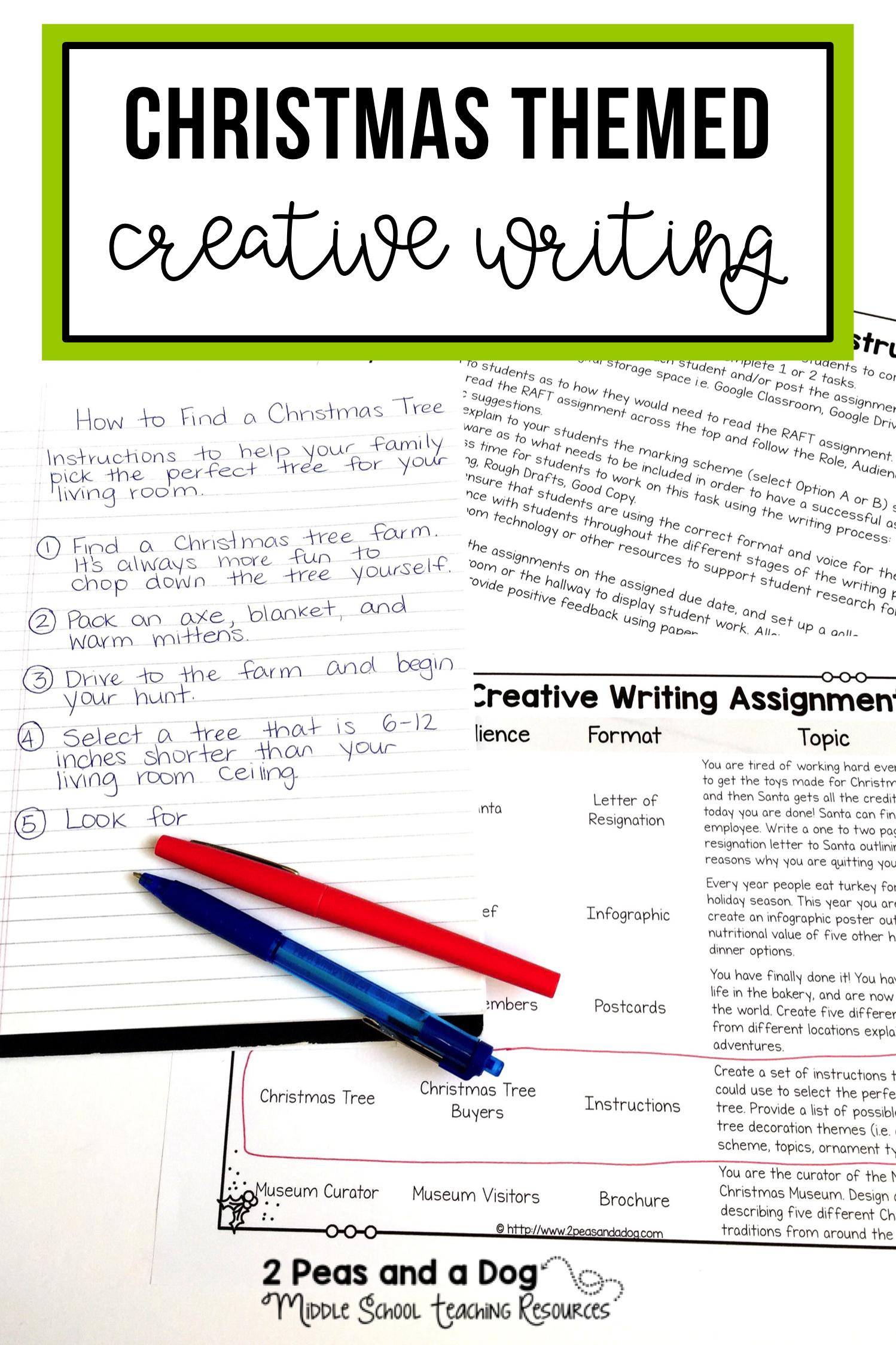 creative writing curriculum high school