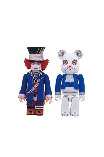 Medicom Toy Kubrick Bearbrick 100/% ALICE IN WONDERLAND MAD HATTER /& WHITE RABBIT