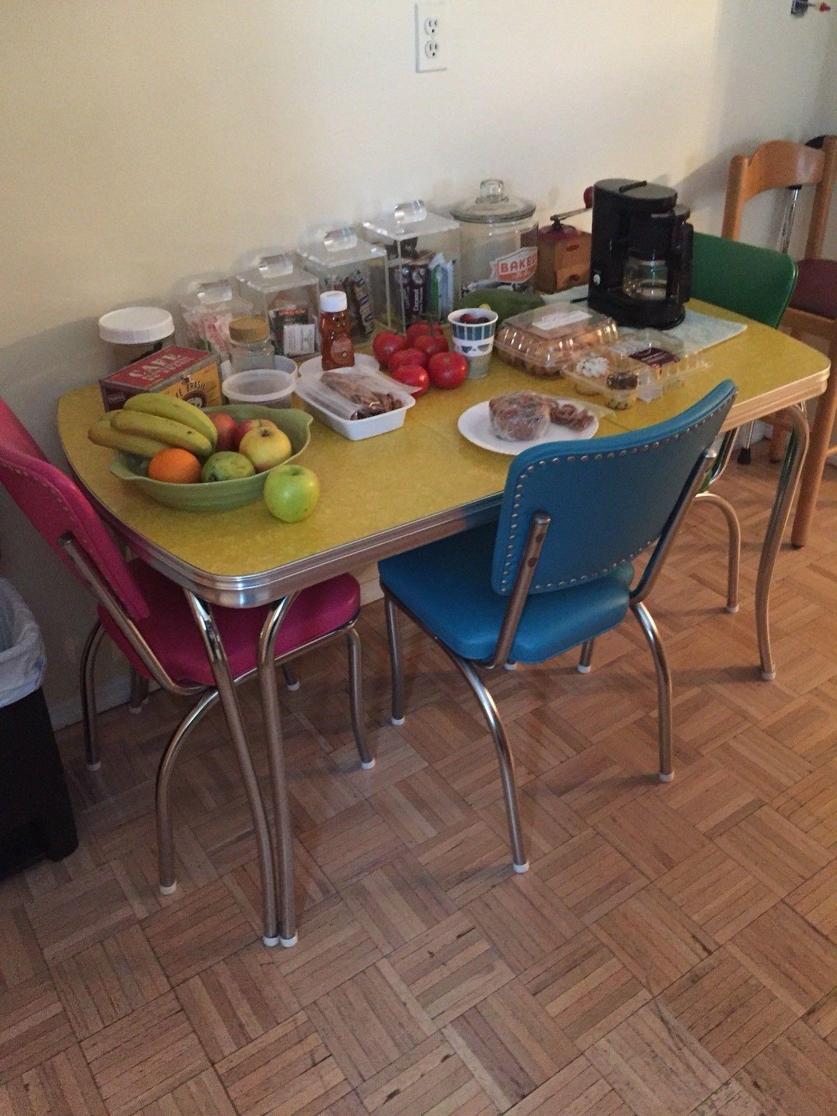 Retro Vintage 1950s 1960s Formica Table Retro Kitchen Retro Kitchen Tables Kitchen Table Settings