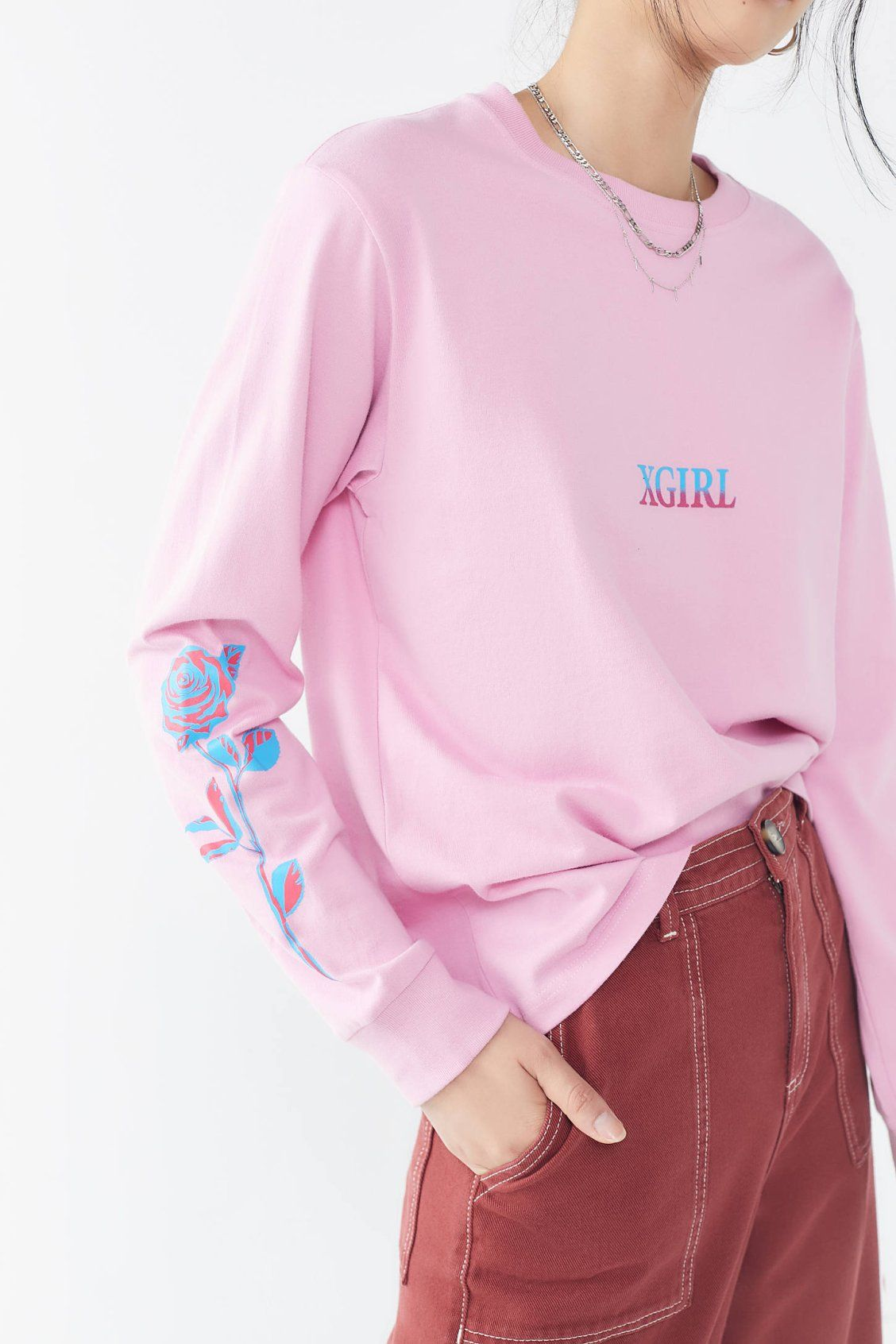 X-girl Rose Long Sleeve Tee  d72758dbd3c7c