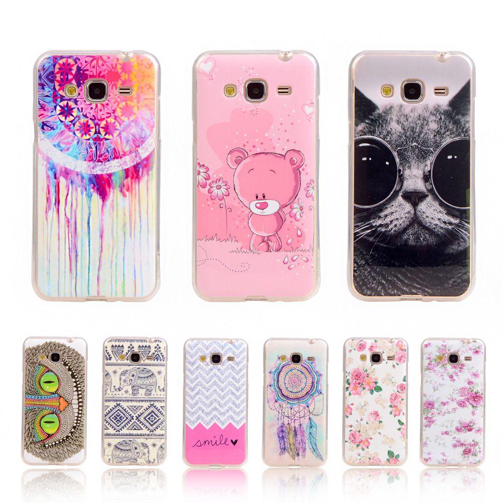 For Samsung J3 Elephant Pattern Soft Plastic Gel Case For Samsung ...