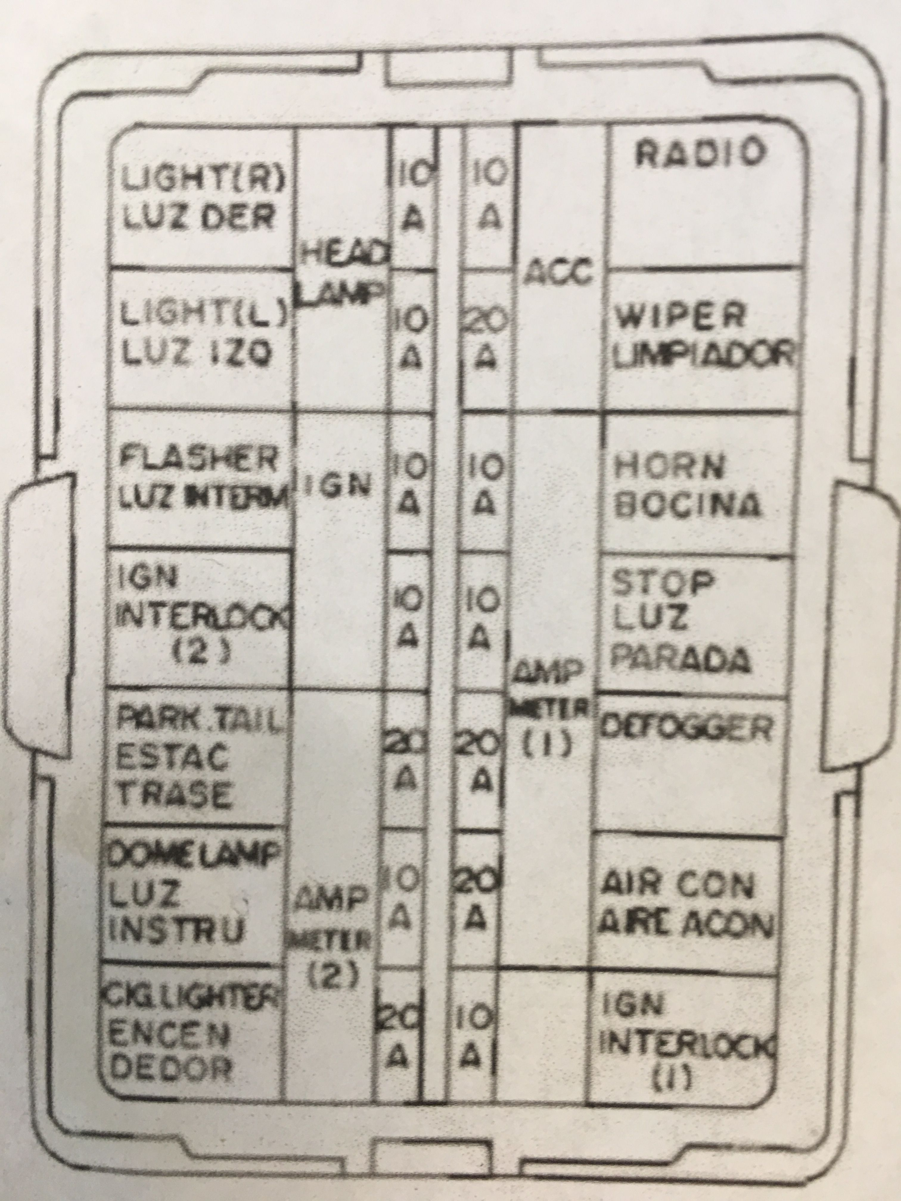 260z fuse box diagram