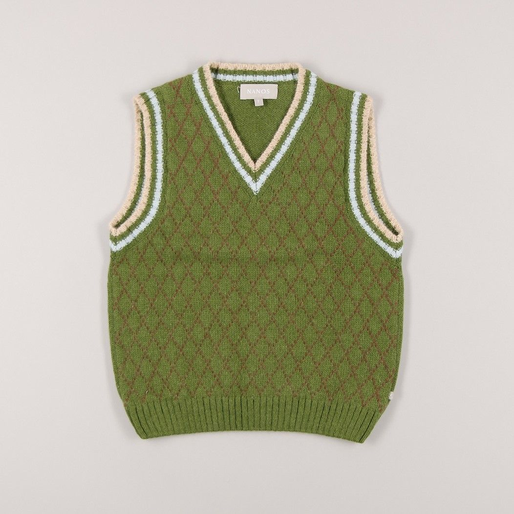 Chaleco de lana y angora de color Verde marca Nanos
