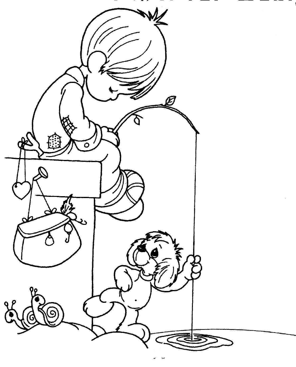 Dibujos para Colorear Infantil: Preciosos Momentos / Niño pescando ...