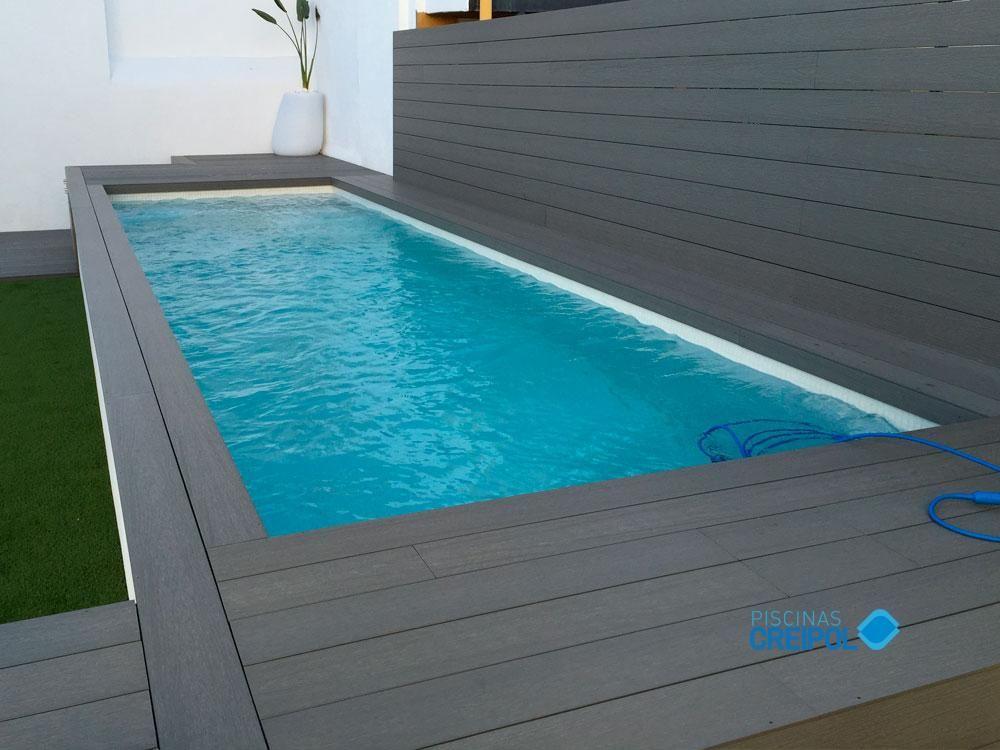 piscina elevada de obra construida en badalona con